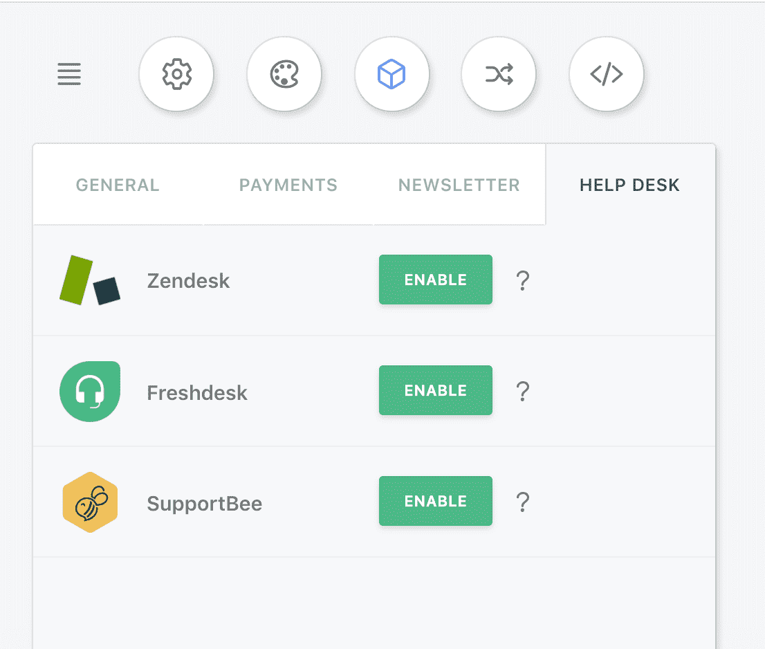 Enable Zendesk addon