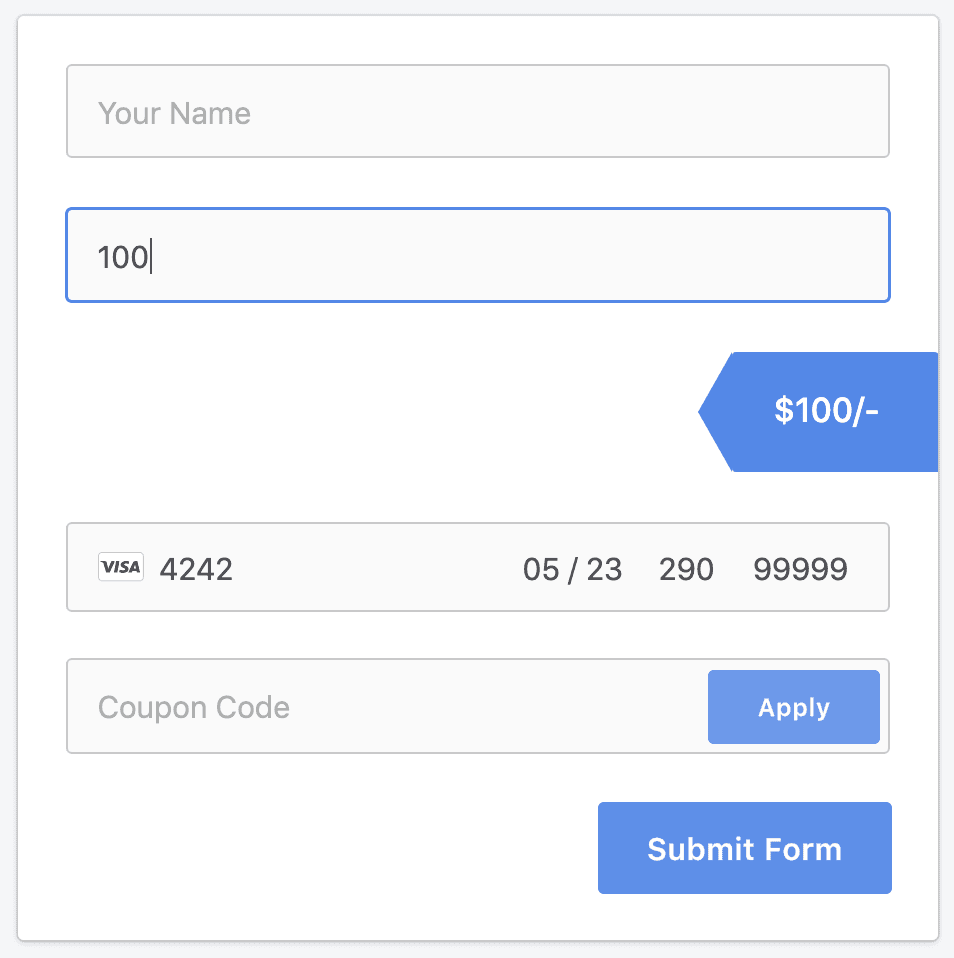 Testing Stripe payment forms