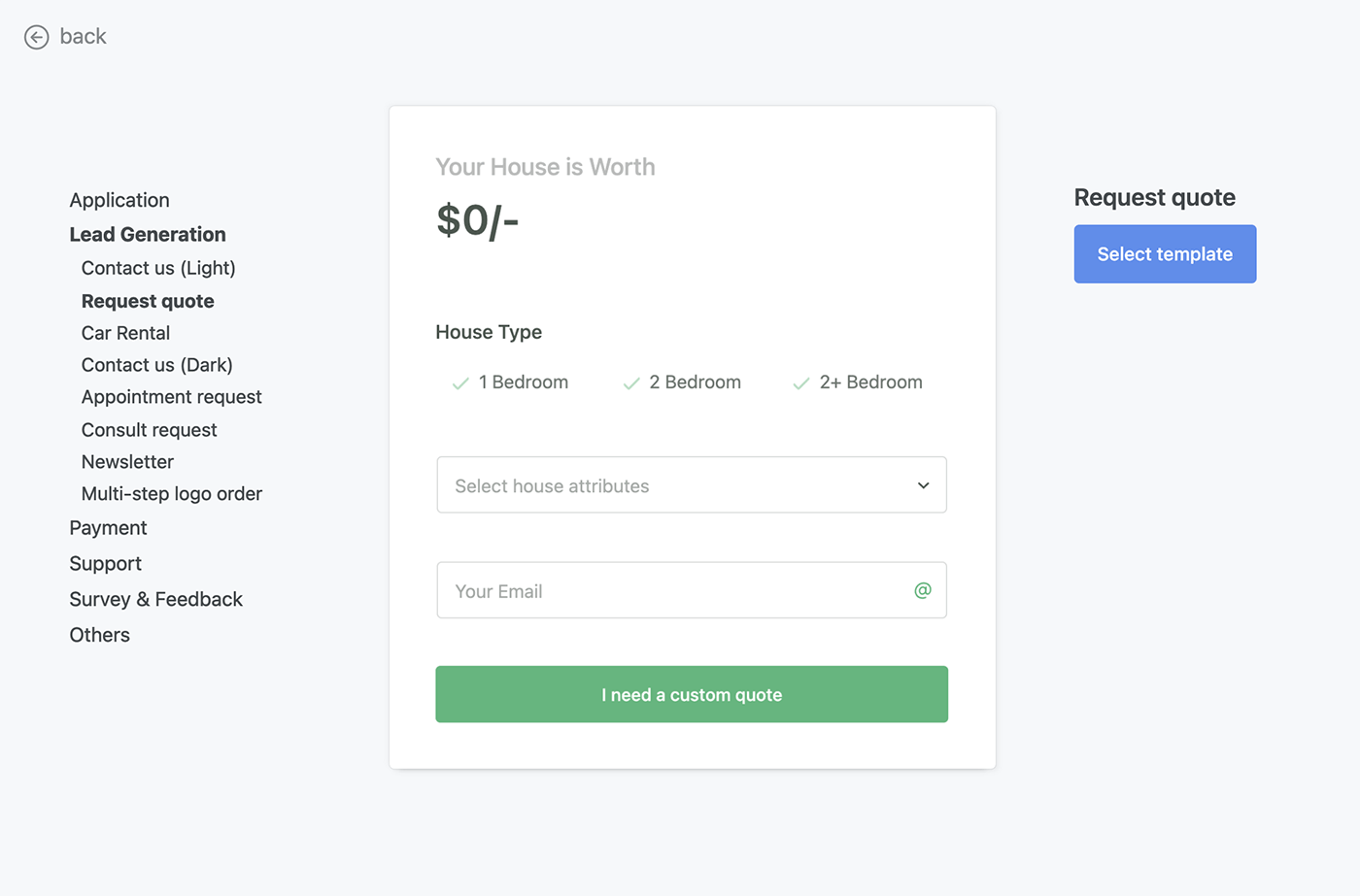 Pipedrive quotation form template