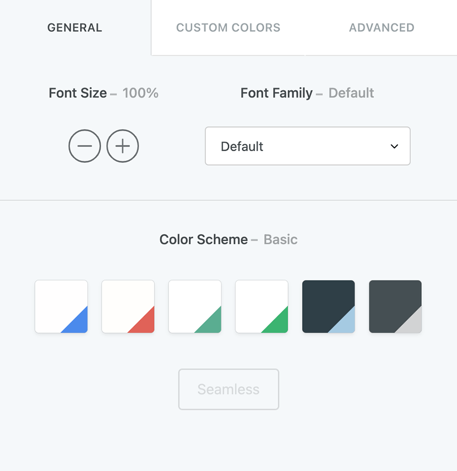 Form styling and customization