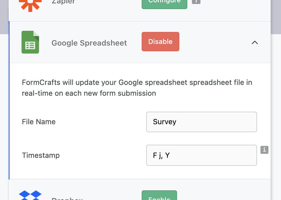 formcrafts-google-sheet
