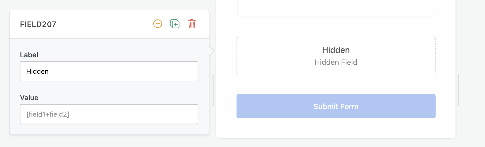 Adding a hidden field on your form