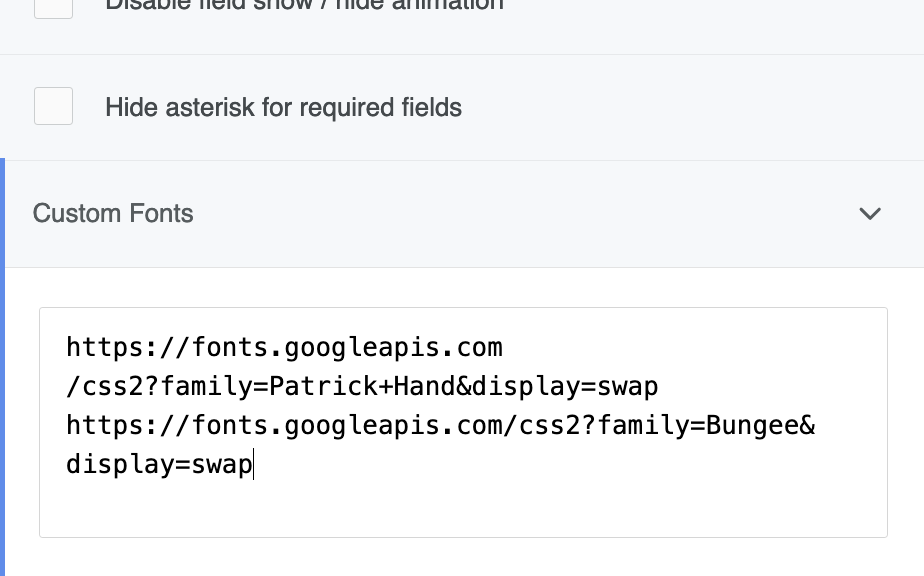 Load font files on your form