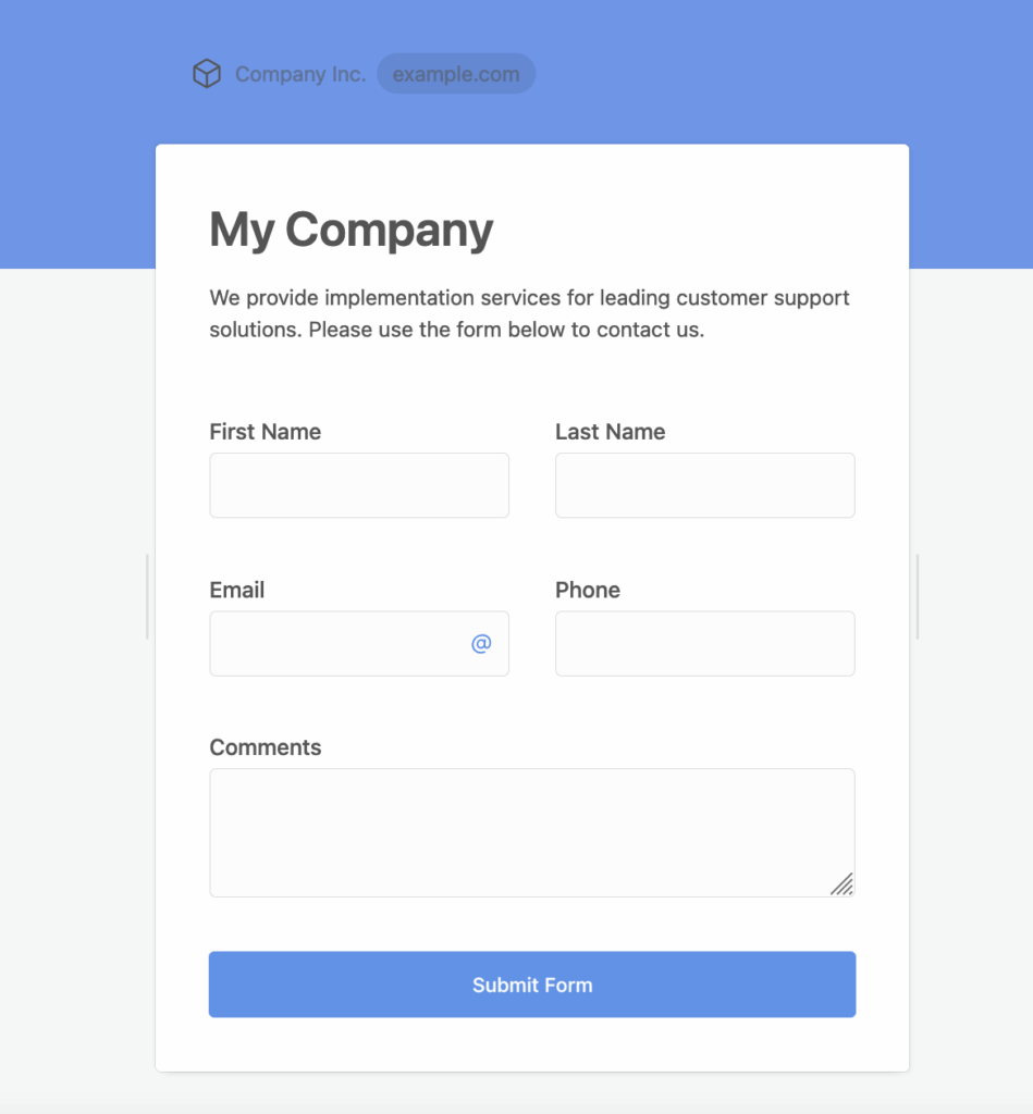 Creating a Zoho CRM form in FormCrafts