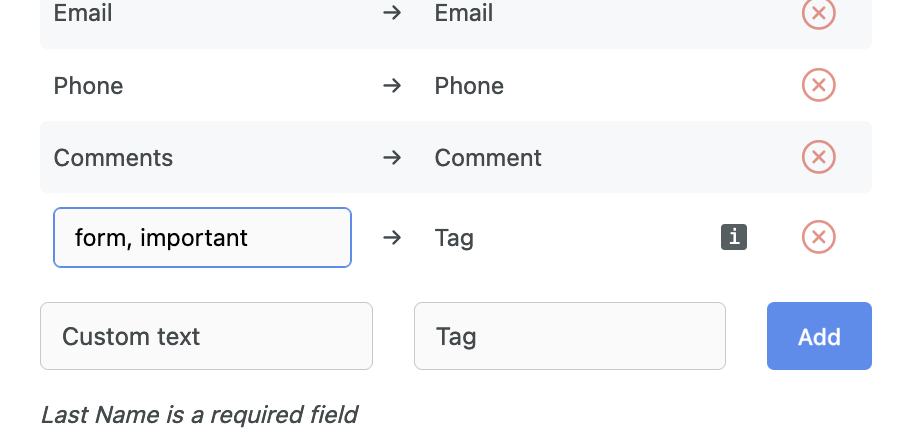 Adding tags to Zoho CRM leads