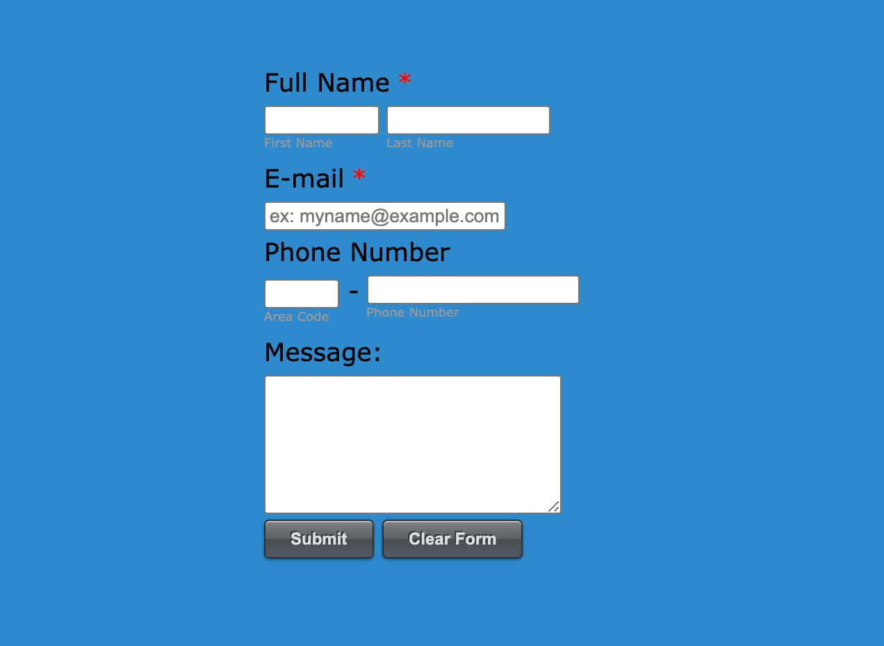 Form template design in JotForm