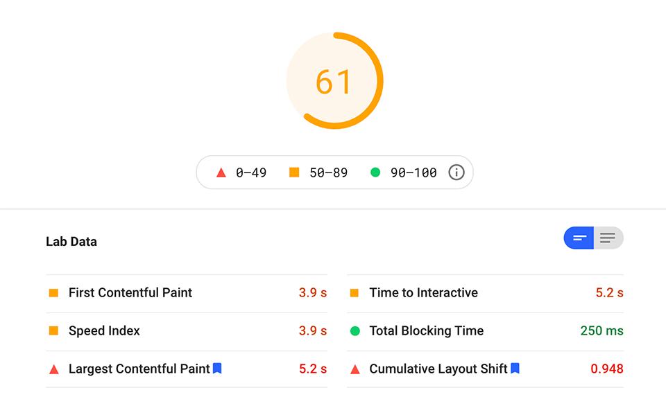 JotForm form load performance